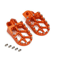 Billet MX Foot Pegs Rests Pedals For EXC SX SXF 65-990 FREERIDE250F Orange