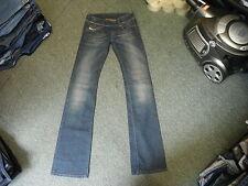 """Diesel Cherone Jeans Waist 25"""" Leg 34"""" Faded Dark Blue Ladies Jeans"""