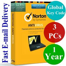 Norton Antivirus 3 PCs / 1 Year (Unique Global Key Code) 2018