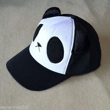 Hot Sale!Lovely Cute Panda Black Baseball Cap Adjustable Hat for Ladies Girls