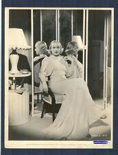 CAROLE LOMBARD TRIPLE MIRROR VIEW PHOTO - HER ELEGANT HOME - 1934
