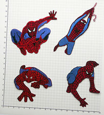 THE AMAZING SPIDER-MAN - Awesome Set of FOUR Iron-On Embroidered Patches #S07