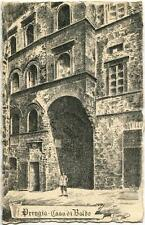 1920 Perugia - Casa di Baldo dall'esterno DEST. LUCCA FP B/N VG ANIM