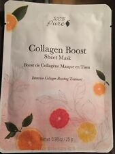 100% Pure 1 Sheet Mask Collagen Boost Mask organic face cream
