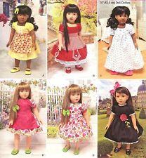 "18"" Doll Dresses, Slip, Panties, Nightgown Simplicity 1486 Uncut Sewing Pattern"