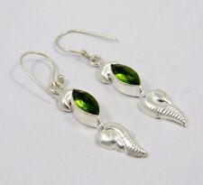 Handmade Earring Jewelry Mjc7732 Peridot Quartz .925 Silver Plated