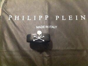 Philipp Plein Gürtel 120 cm silberne Schnalle