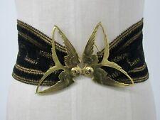 Vintage Alain Fourdraine Gold Tone Art Nouveau Sparrow Motif Belt Made in France