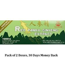 2 BOXES OF RED PANAX GINSENG EXTRACT 4500 MG 60 BOTTLES Magic Drop Brand, Sealed