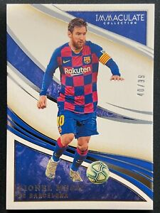 LIONEL MESSI 2020 PANINI IMMACULATE #10 BASE SP SILVER 40/99 FC BARCELONA