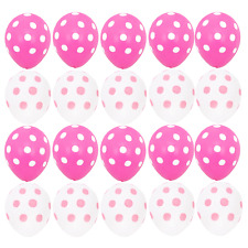 20X Pink White Polka Dots Minnie Mouse Balloons Baby Shower Birthday Party Decor