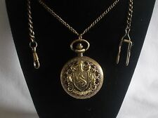 Harry Potter Watch Hufflepuff Crest Pocket or Necklace (Antique Bronze Color)