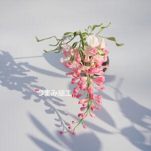 Cissus Wisteria Hairpin Hair Stick Kanzashi Tsumami zaiku for Kimono Accessory D