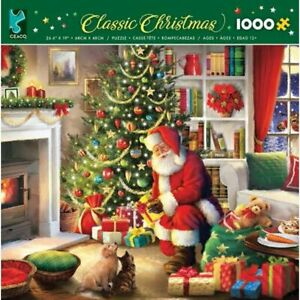 Ceaco - Classic Christmas - Santa's Visit - 1000 Piece Jigsaw Puzzle New Sealed
