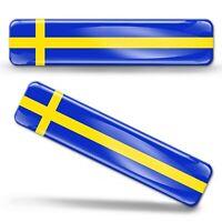 3D Gel Aufkleber Schweden Flagge Schwedische Fahne Sweden Flag Sverige Stickers
