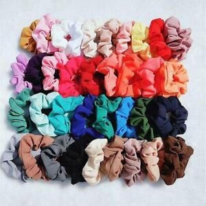 1/5Pcs Women Colorful Hair Scrunchies Chiffon Hair Band Elastic Hair Accessories
