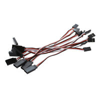 10 Pcs Remote Control Female to Male Servo Extension Cable Wire Black+Red+W S0R2