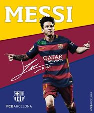 """Lionel Messi Fc Barcelona Sherpa Lining Throw Blanket 50""""x60"""" Running"""