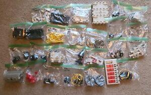 Vintage Robotix R-2000 R-1100 Wheels Motors Cockpit Connector Wires Parts Lot