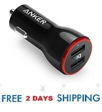 Anker 24W Dual USB Car Charger PowerDrive 2 for iPhone X / 8 / 7 / 6s / Plus