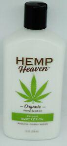 HEMP Heaven Organic Hemp Seed Oil Body Lotion Coconut 12oz