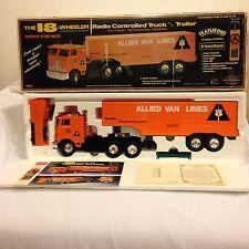 Vintage Pro Cision Allied Van Lines 18 Wheeler Radio Control Rc Semi Truck Rare!