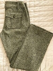 Marc Cain Wool & Silk Trousers. Size 10/12. Tweed. Long
