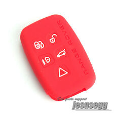 Red Silicone Remote Key Case Cover Fob For Land Range Rover Sport Evoque LR4