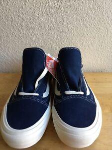 Vans Old Skool Pro Men's Size 10 US Dress Blue Navy /White New With Box