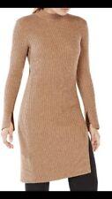 BCBG Maxazria Women's Dress Gwynn Brown Wool Blend Tunic Size Medium NWT $198