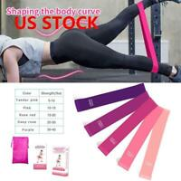 Sports Resistance Bands Fitness Equipment Training Yoga Gym Exercising Bands US