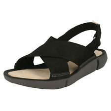 87604d22480b31 Women s Clarks Tri Chloe Strap Sandals in Black UK 7   EU 41