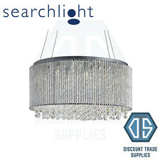 4048-8CC SEARCHLIGHT BEATTY CHROME 8 LIGHT DRUM METAL PENDANT WITH TWISTED RODS