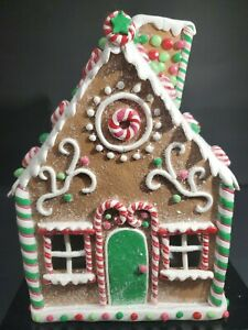 """9"""" Peppermint Gingerbread Candy House Halliwell Holiday"""