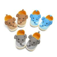 Newborn Kids Baby Boys Elephant Cartoon Anti-Slip First Walkers Soft Sole Shoes