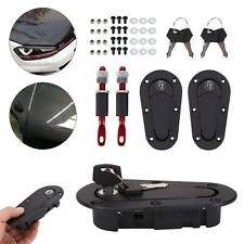 New Black Plus Flush Quick Release Bonnet Latch Catches Locking Pins Kit UK