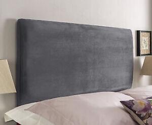 """Plain Divan Bed Headboard in Plush Velvet - Available in 20""""  3FT 4FT 4FT6 5FT"""