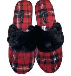 Victoria's Secret's Signature Satin Slippers Large L 9/10 NEW