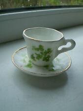 Hales Shamrock Miniature Tea Cup & Saucer Ballyporeen Bone China Irish