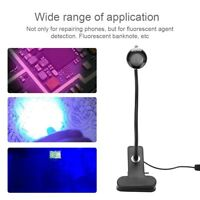 USB Ultraviolet Light Lamp UV Glue Curing LED Lamp Purple Light Phone Repair 3W