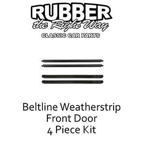 1997 - 2001 Jeep Cherokee Window Beltline Weatherstrip Kit - Front Doors - 4 Pc.