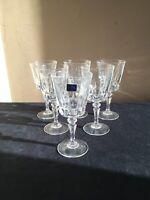 "SET OF 6 Lady Victoria (Cristal d'Arques) CHANTEL 6-1/8"" Wine Glasses; EUC"