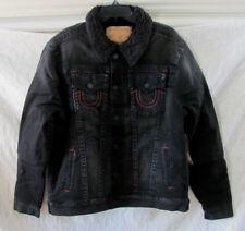 True Religion Trucker Denim Jacket with Sherpa Lining -Black- Size 3XL- NWT $269