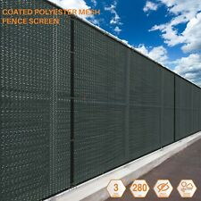 Custom 10 FT Tall Green Fence Privacy Commercial Screen Coated Polyester 280 GSM