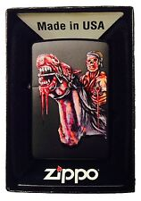 Zippo Custom Lighter Dead Zombie Horse Rider Gun & Oozing Blood Pocket New