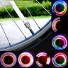 Bike Bicycle Wheel Tyre Valve Cap Spoke Light 32 Change Neon 5 LED Flashing Lamp