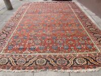 Antique Hand Made Traditional Rug Oriental Wool Red Carpet 395x297cm