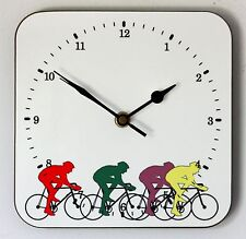 NEW 19cm Cycling Wall Clock - Modern Bicycle Bike Tour de France Christmas Gift