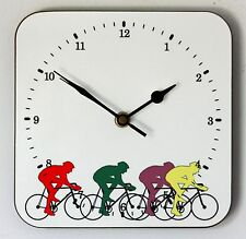 NEW 19cm Cycling Wall Clock - Bicycle Bike Tour de France Fathers Day Gift
