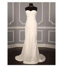 NICOLE MILLER SILK TRIPLE BOW BRIDAL WEDDING GOWN SZ 8 $1320 Ivory